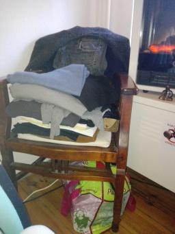 Wäschestapel